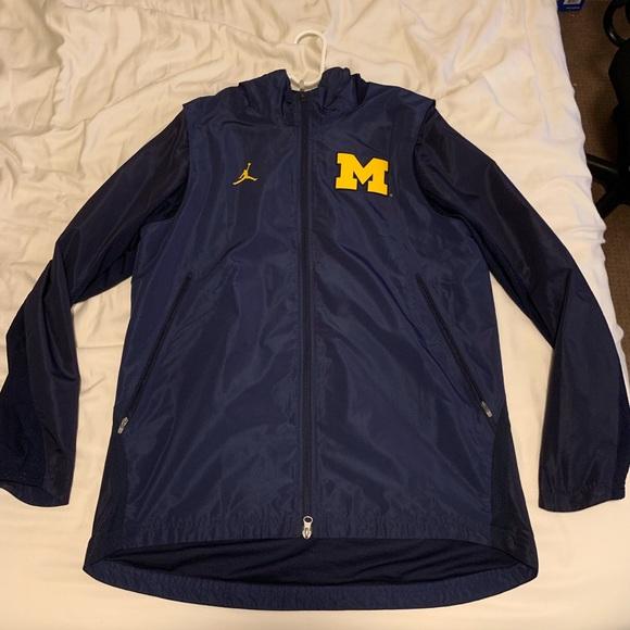 Michigan Jordan Gear >> Michigan Jordan Full Zip Jackets
